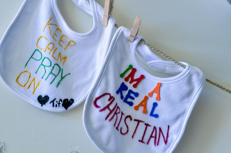 "The babies name will be ""Christian."" I thought this was a really cute play on words!!!"